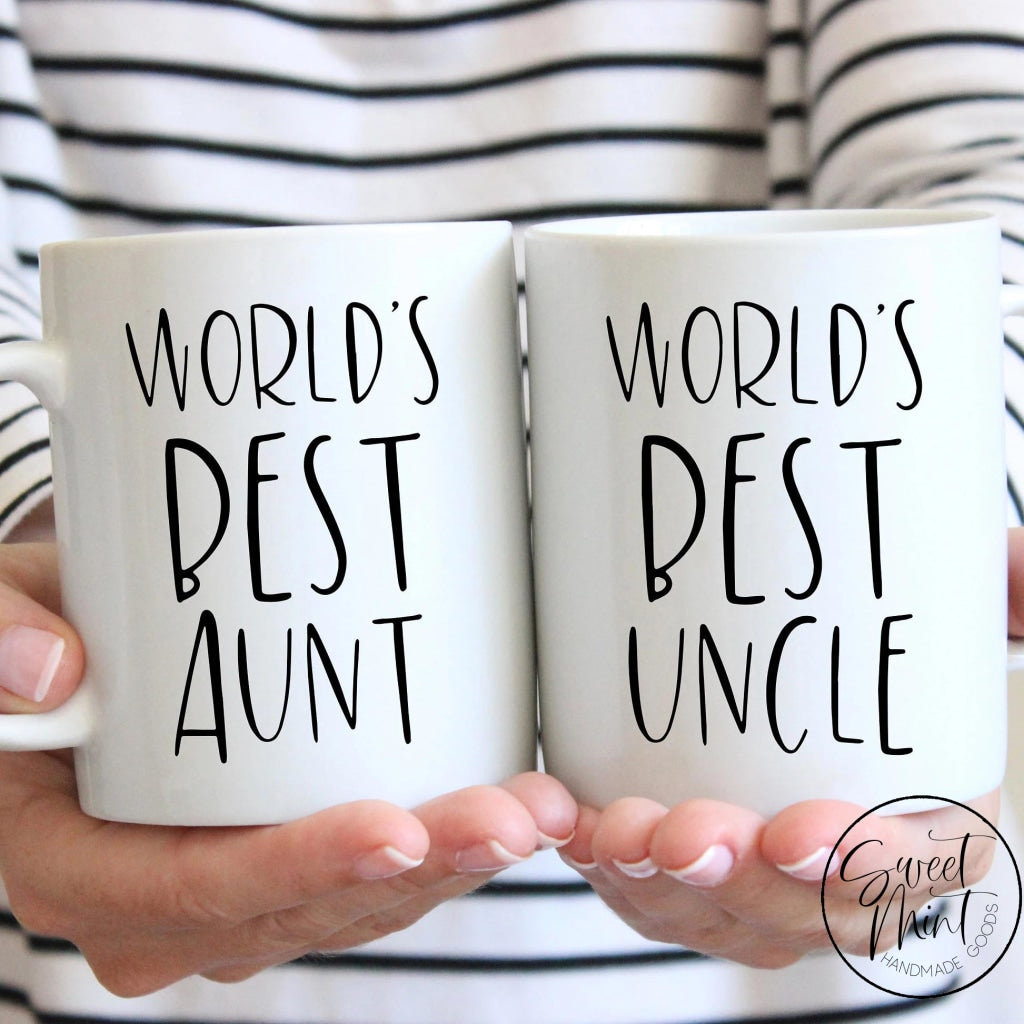 Worlds Best Aunt & Uncle Mug Set