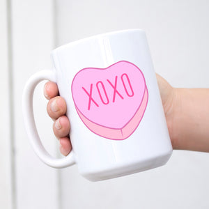 XOXO Conversation Heart Valentine's Day Mug