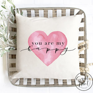You Are My Happy Pillow Cover - 16X16 Pillow Cover