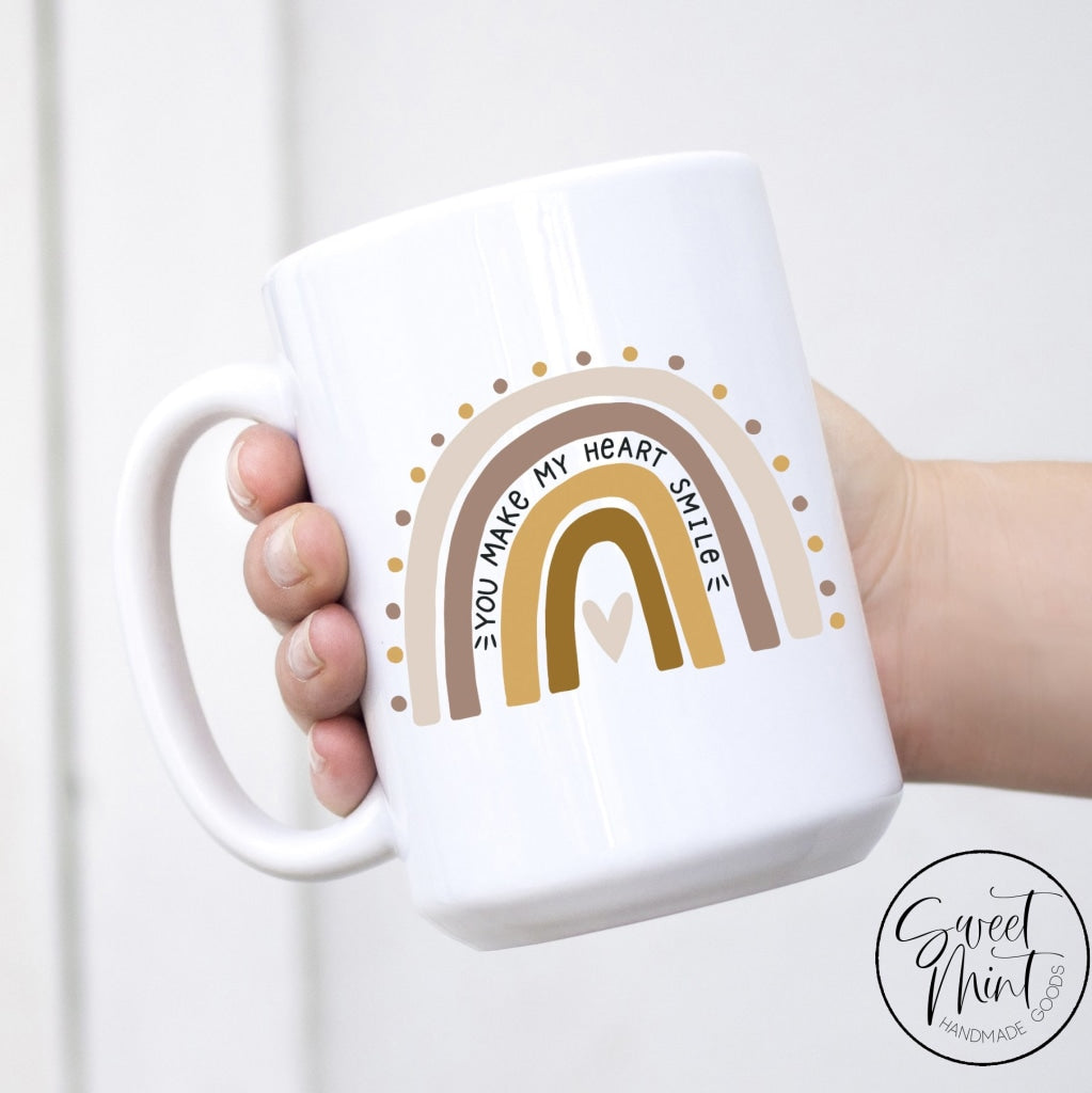 You Make My Heart Smile Rainbow Mug