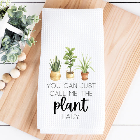 You Can Just Call Me the Plant Lady Waffle Towel