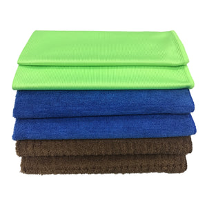 6 Pack Microfiber Towels 16 in. x 24 in. Combo