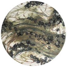 "CAUSALITY Resin and Ink Original Abstract Artwork - 20"" diameter - GCC Artworks"