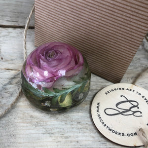 Wedding / Memorial Flowers Preserved in Resin Orb - 6cm