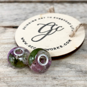Wedding / Memorial Flowers Preserved in Pandora-Style Bead Charm