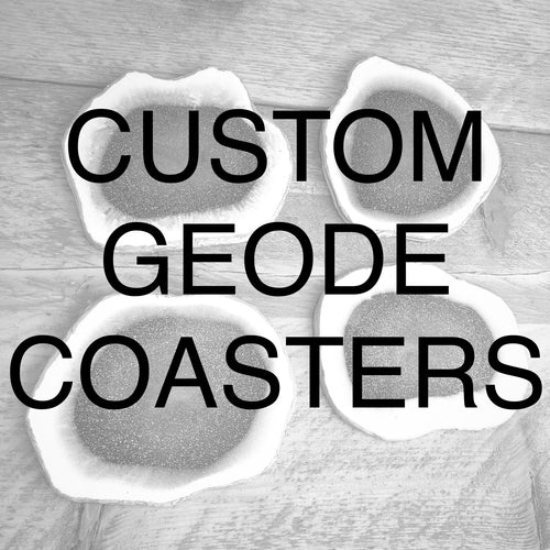 Custom Order Geode Coasters - Set of 4 - GCC Artworks - Bringing Art to Everyday Life