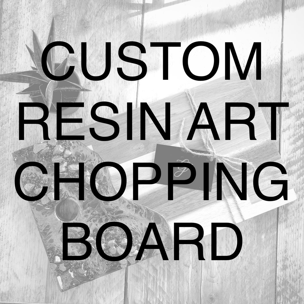 Custom Order Resin Art Chopping/Serving Board - GCC Artworks - Bringing Art to Everyday Life