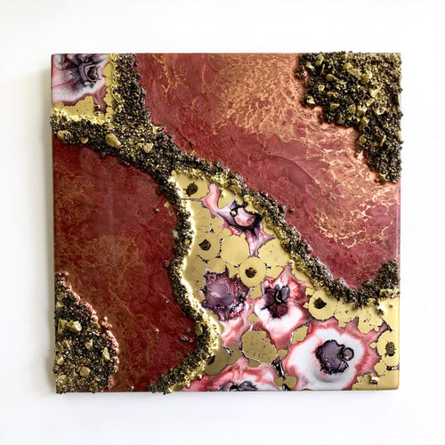 COPPER BLOOM - Geode Inspired Original Abstract Artwork - 14
