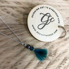 Feather Necklace - Teal and Purple