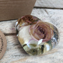 Wedding / Memorial Flowers Preserved in Resin Heart