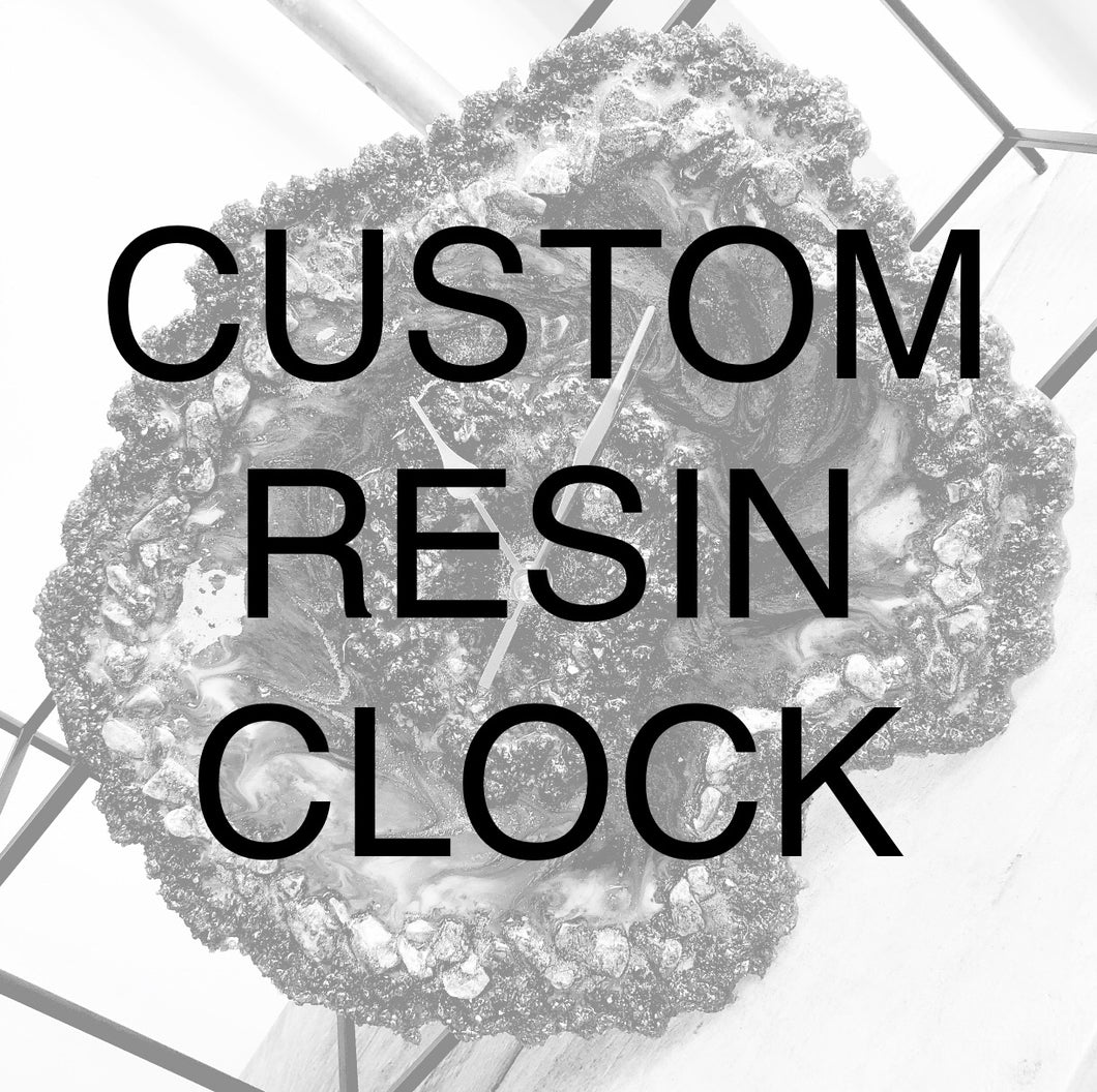 Custom Order Resin Art Clock - GCC Artworks - Bringing Art to Everyday Life