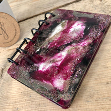 "Pink and Black Reusable Resin Art Notebook - 5"" x 3.5"""
