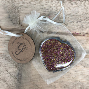 Resin Art Compact Mirror - Glitter