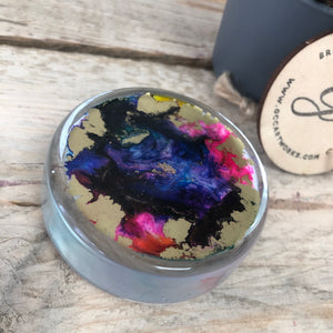Small Resin and Ink Paperweight