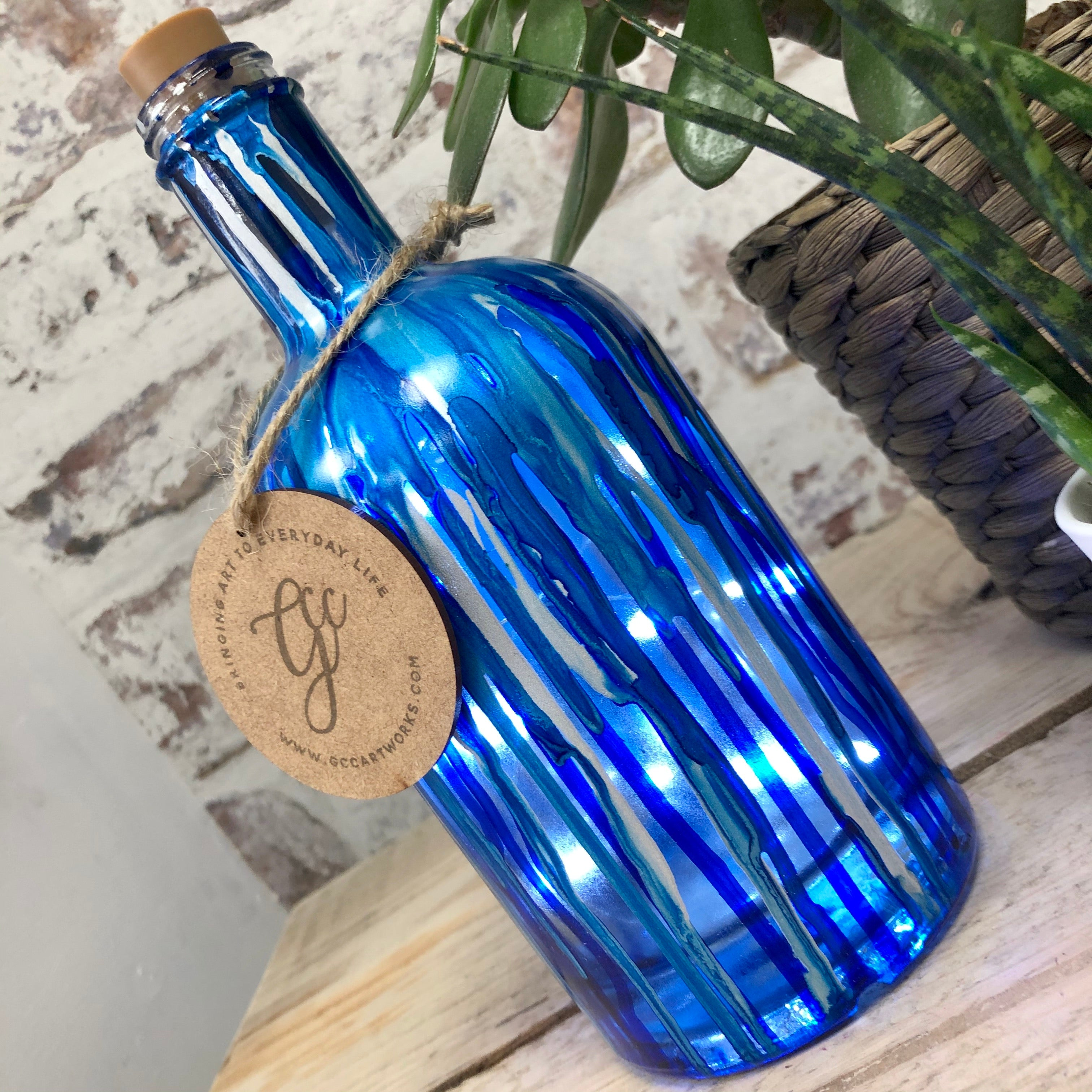 Light Up Dream Bottle - Blues and Silver