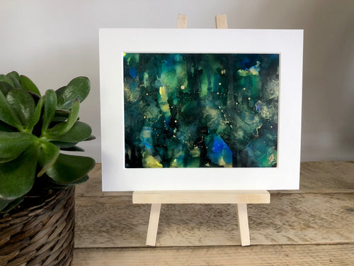 EMERALD- Original Black, Gold and Green Abstract Ink Artwork - GCC Artworks - Bringing Art to Everyday Life