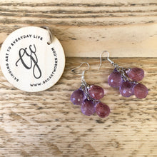 Handcrafted Drop Earrings - Purple Grapes