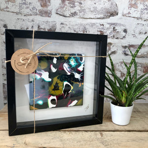 Original Abstract Resin Art - Box Framed Mini Study