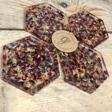Confetti Infused Resin Art Coasters - Set of 4 - MADE TO ORDER
