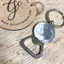 Resin Art Bottle Opener Keyring