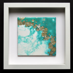 Original Abstract Resin Art - Box Framed Mini Study - GCC Artworks - Bringing Art to Everyday Life