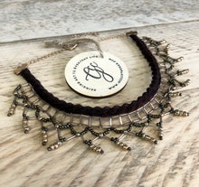 Bronze, Champagne and Gold Beaded Choker Necklace - GCC Artworks - Bringing Art to Everyday Life
