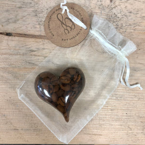 Coffee Bean Infused Resin Paperweight - MADE TO ORDER