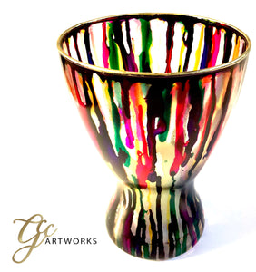 CANDLEHOLDER- Vibrant Multicolour Ink - GCC Artworks - Bringing Art to Everyday Life