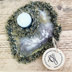 Geode Inspired Candleholder - Individual