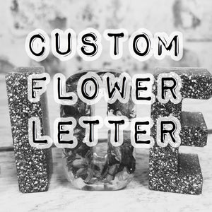 Resin Letter - CONFETTI INFUSED