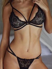 European And American Fashion Lace Appeal Belt Sexy Lingerie Set