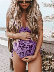 Maternity Leopard Sexy One-Pieces Swimsuit