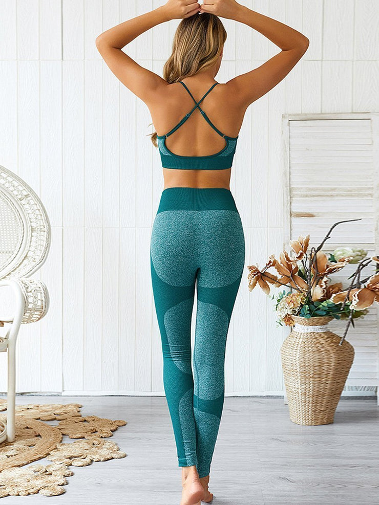 Women's Yoga Vest Sports Suit