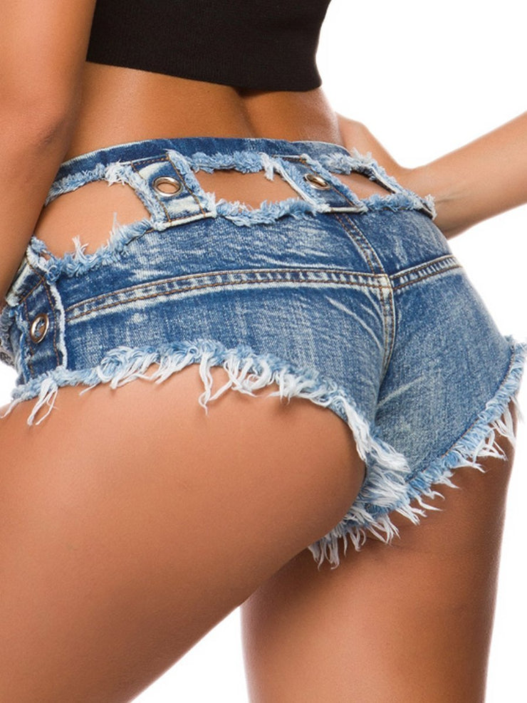 Sexy Denim Hot Pants With Low Waist