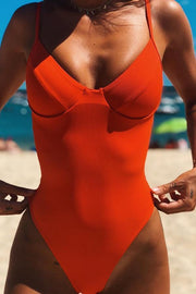 Sexy Pure Color Garter Swimsuit