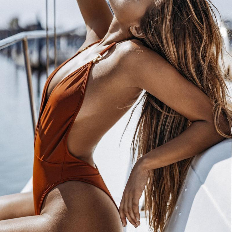 Sexy Backless One-Piece Swimsuit
