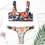 Sexy Printed Two-Sided Bikinis