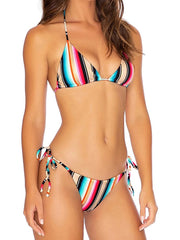 Rainbow Striped Sexy Bikini Swimsuit