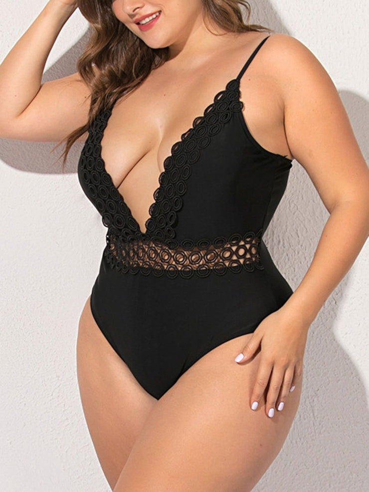 Sexy Lace Plues Size Swimsuit