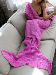 Knitted Mermaid Sofa Air Conditioning Blanket
