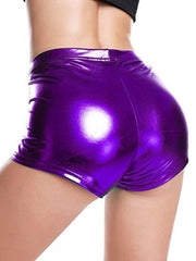 Sexy Jack Metal PU Leather Shorts Hot Pants