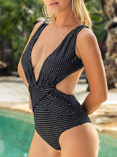 Siamese V-Neck Sexy One Piece Swimsuits
