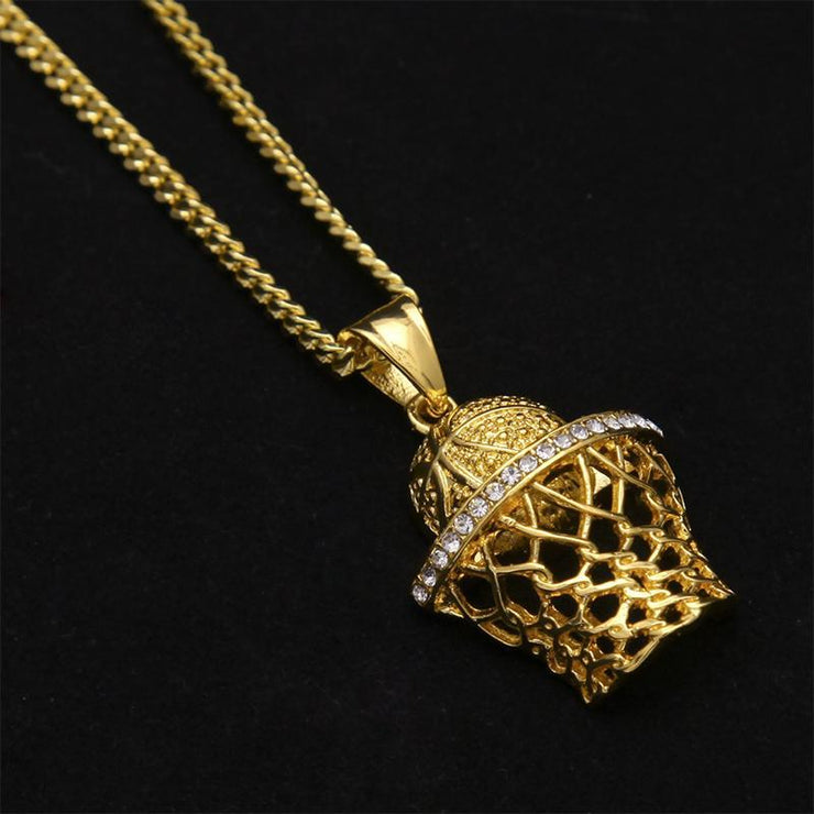 Hip Hop Fashion Basketball Pendant Necklace