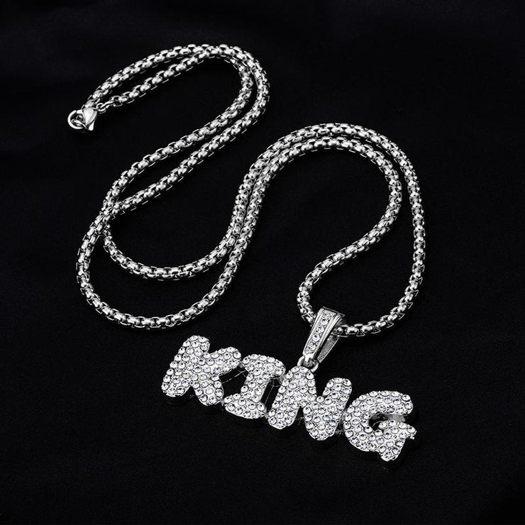 Hip-Hop Diamond Pendant Necklace