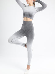 Gradient Seamless Fitness Yoga Suit Set