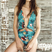 Printed Sexy Hollow Swimsuit