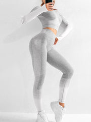 Knitted Hips Stretch Fitness Yoga Suit