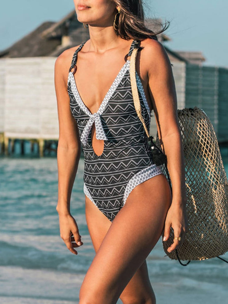 Small Fresh Ripple One Piece Swimsuits