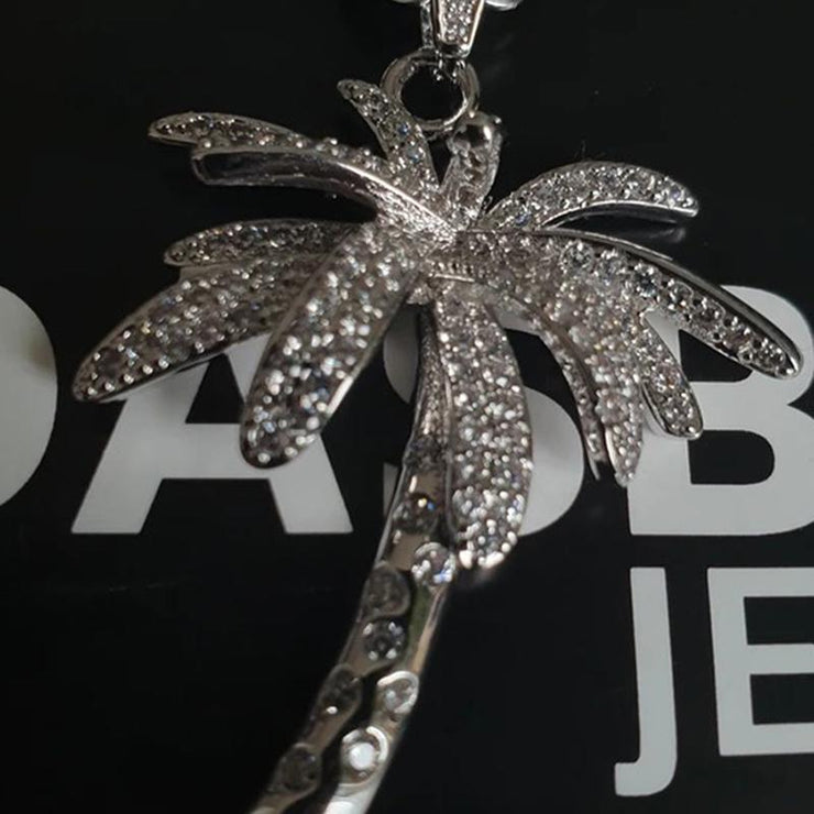Cooper Pendant with Zircon Coconut Tree