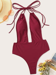 Bikini One-piece Swimsuit Female Sense Triangle Conservative